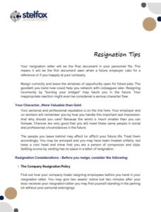 resignation tips